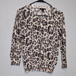 Career Wear Leopard Print Banana Republic Sweater